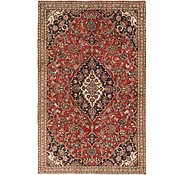 Link to 4' 8 x 7' Mashad Persian Rug