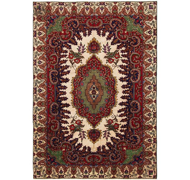 6' x 8' 8 Tabriz Persian Rug