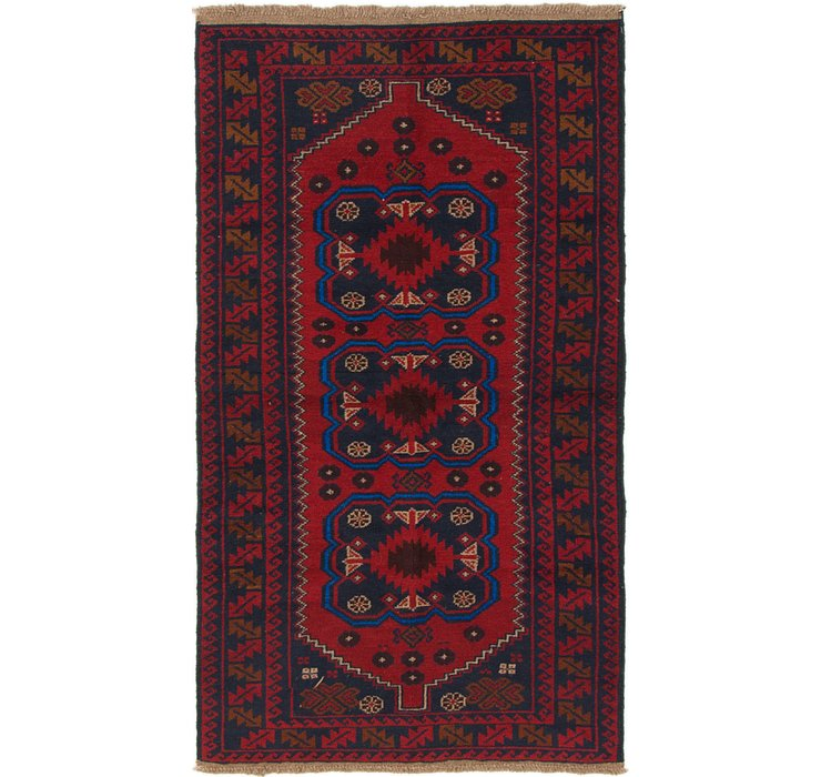 3' 5 x 6' 3 Balouch Persian Rug