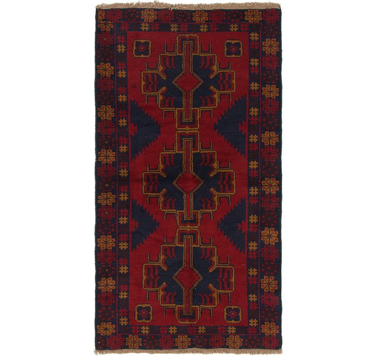 110cm x 205cm Balouch Persian Rug