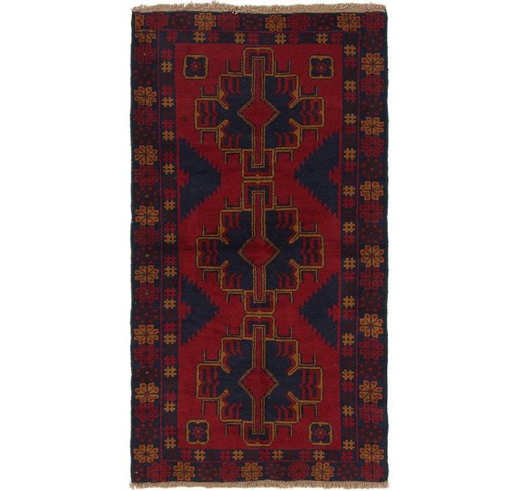 3' 7 x 6' 9 Balouch Persian Rug