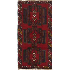 HandKnotted 3' 3 x 6' 6 Balouch Persian Rug