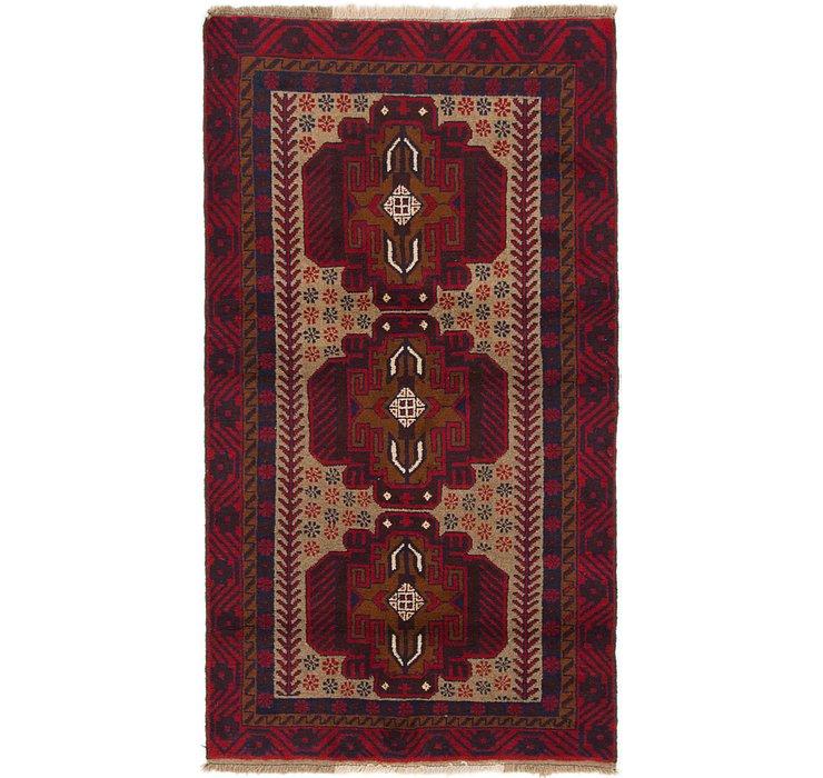 3' 5 x 6' 4 Balouch Persian Rug