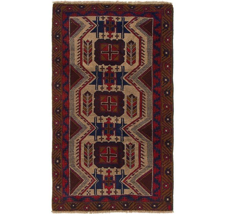 3' 9 x 6' 4 Balouch Persian Rug