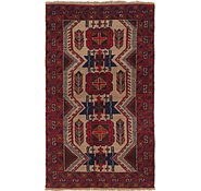 Link to 3' 6 x 6' Balouch Persian Rug