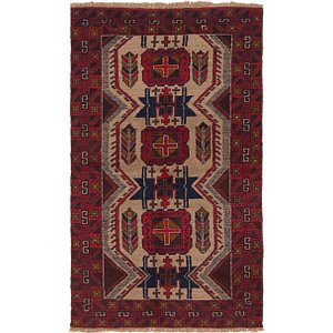 Unique Loom 3' 6 x 6' Balouch Persian Rug