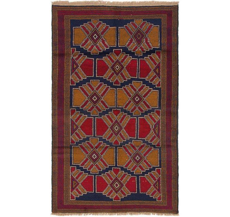 3' 6 x 5' 10 Balouch Persian Rug