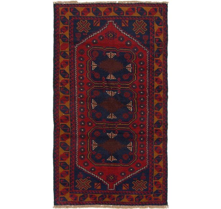 97cm x 183cm Balouch Persian Rug