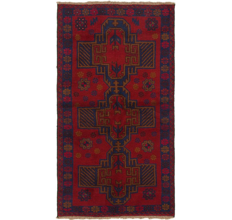 3' 5 x 6' 2 Balouch Persian Rug