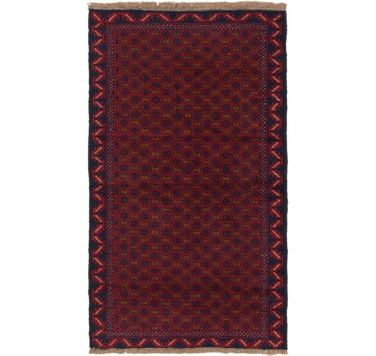 3' 8 x 6' 3 Balouch Persian Rug