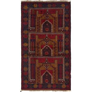 3' 7 x 6' 6 Balouch Persian Rug