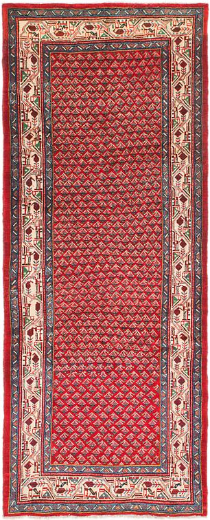 Red 4 X 10 Farahan Persian Runner Rug Persian Rugs