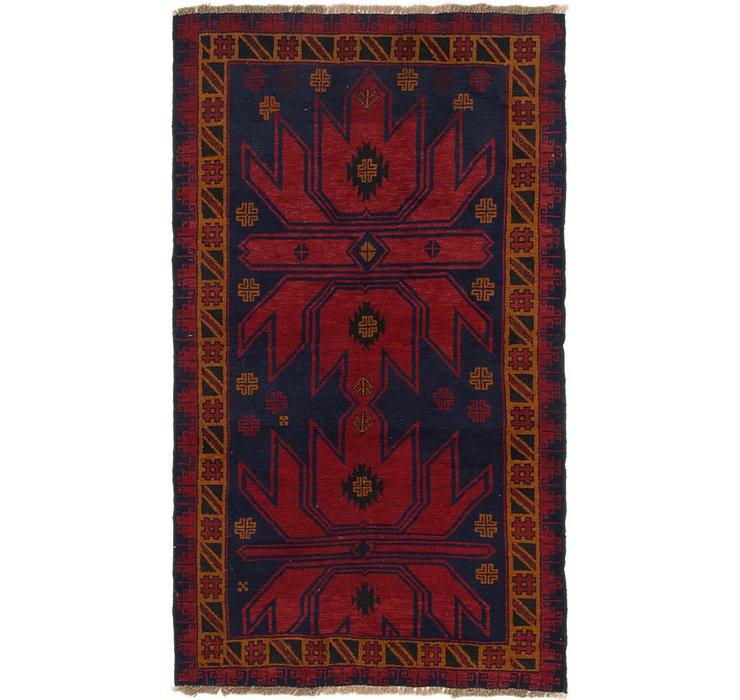 3' 6 x 6' 3 Balouch Persian Rug