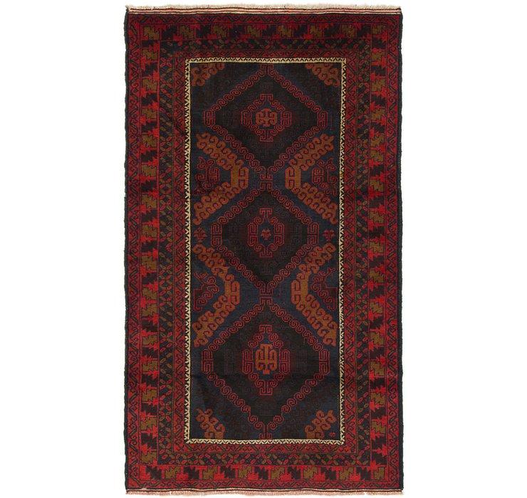 3' 9 x 6' 8 Balouch Persian Rug
