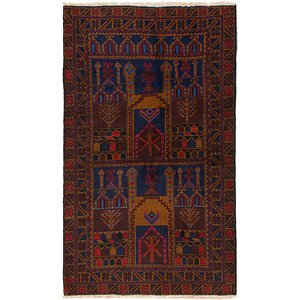 Link to 3' 6 x 6' Balouch Persian Rug item page
