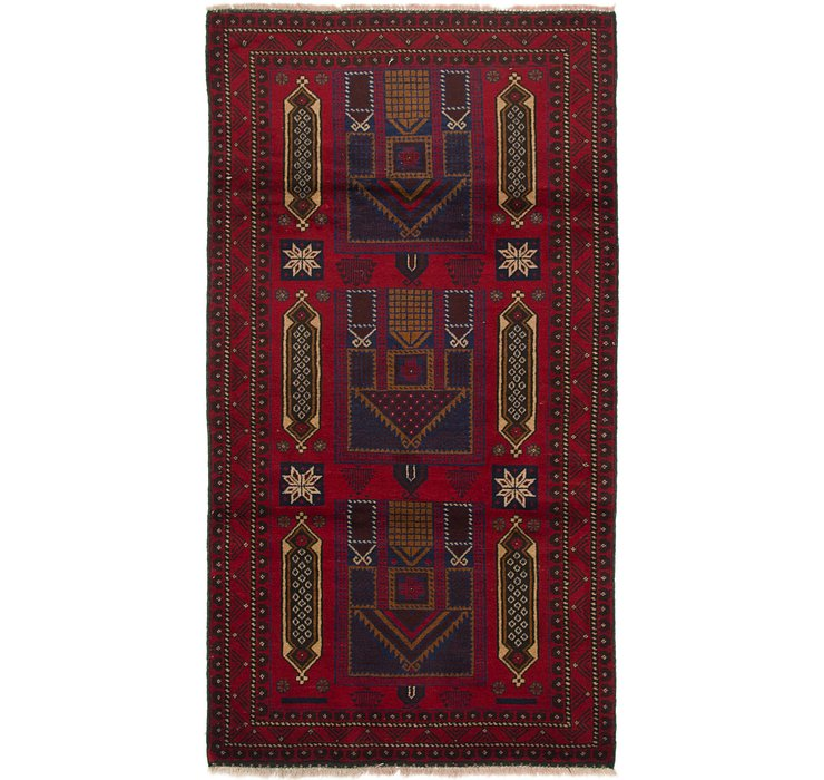 3' 7 x 6' 7 Balouch Persian Rug