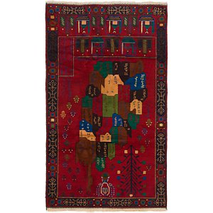 Link to 3' 8 x 6' 7 Balouch Persian Rug item page