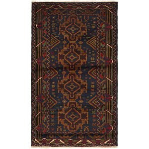 Link to 97cm x 165cm Balouch Persian Rug item page