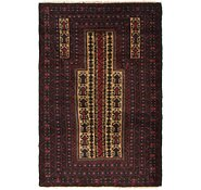 Link to 97cm x 145cm Balouch Persian Rug