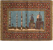 Link to 4' x 5' 3 Qom Persian Rug