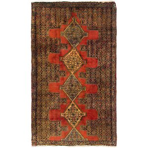HandKnotted 2' 8 x 4' 7 Senneh Persian Rug