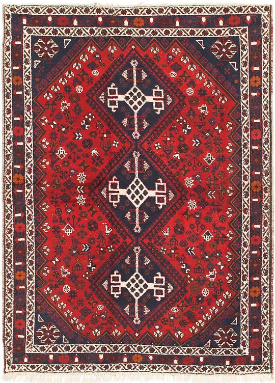 Red 6 X 8 5 Ghashghaei Persian Rug Persian Rugs Irugs Uk