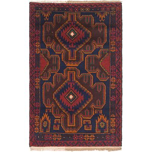Link to 3' x 4' 9 Balouch Persian Rug item page