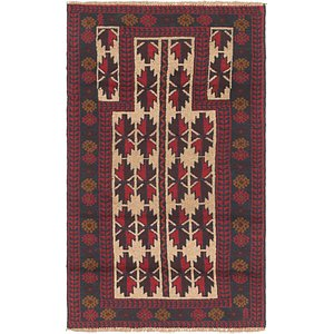 HandKnotted 2' 8 x 4' 9 Balouch Persian Rug