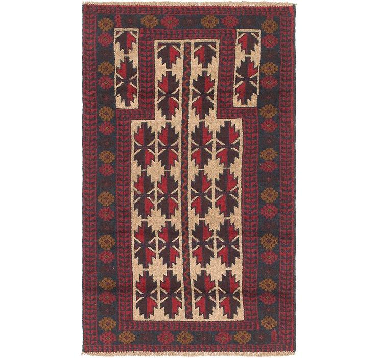 2' 8 x 4' 9 Balouch Persian Rug