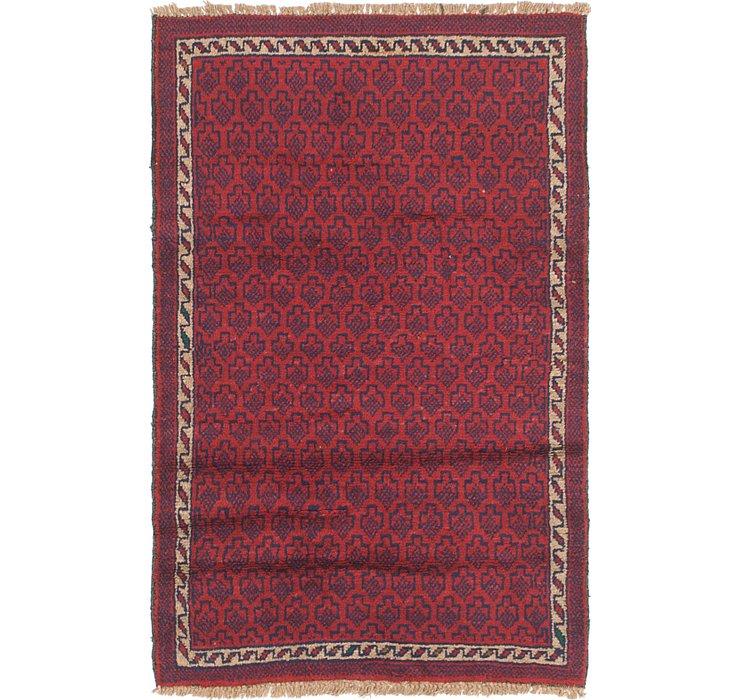 2' 9 x 4' 5 Balouch Persian Rug
