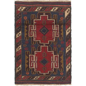 Link to 3' x 4' 7 Balouch Persian Rug item page