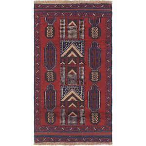 HandKnotted 2' 8 x 5' Balouch Persian Rug