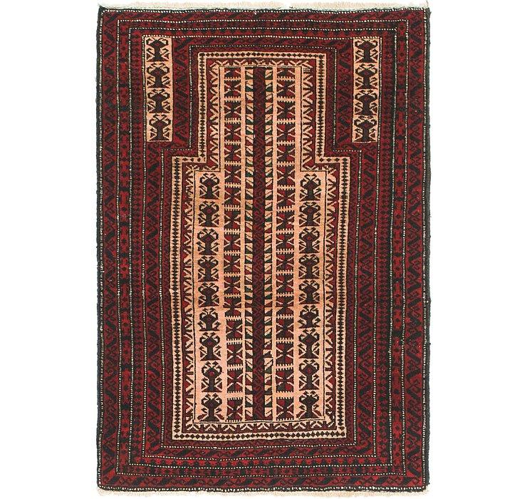 2' 9 x 4' Balouch Persian Rug