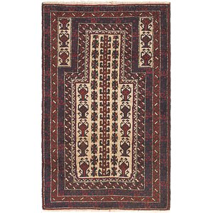 Link to 90cm x 142cm Balouch Persian Rug item page