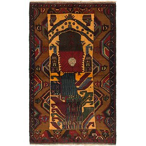Link to 102cm x 165cm Balouch Persian Rug item page