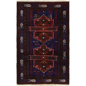 Unique Loom 3' x 4' 8 Balouch Persian Rug