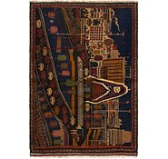 Link to 3' 5 x 5' Balouch Persian Rug