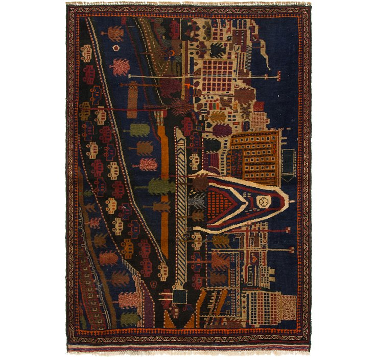 3' 5 x 5' Balouch Persian Rug