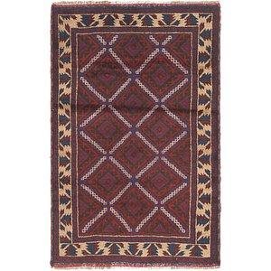 2' 10 x 4' 5 Balouch Persian Rug