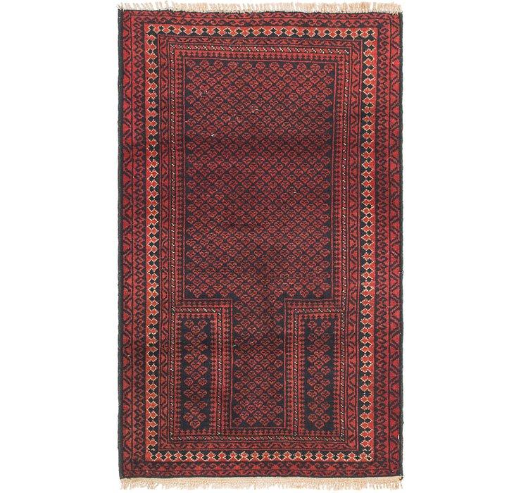 2' 9 x 4' 8 Balouch Persian Rug