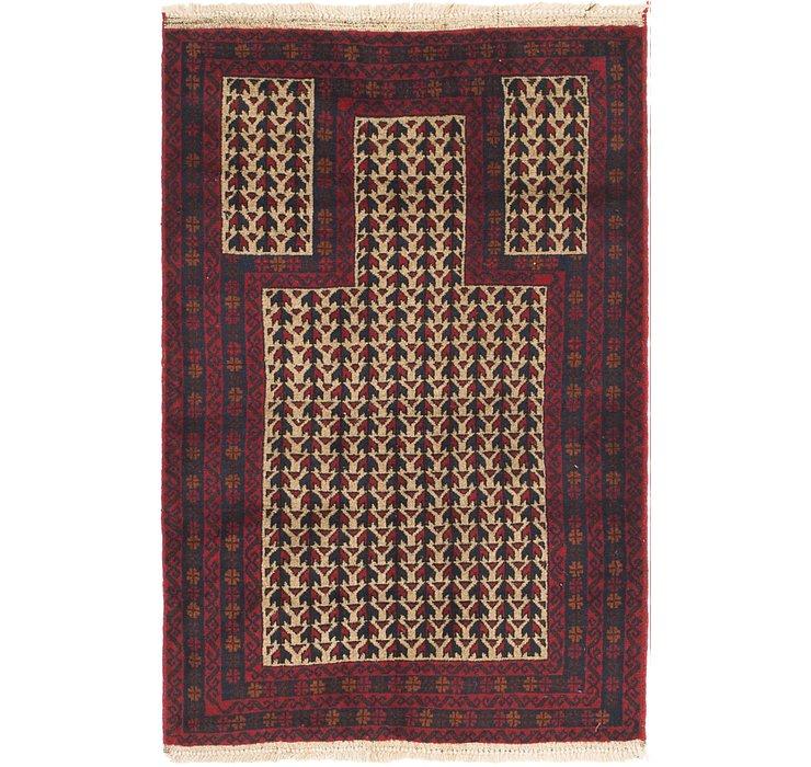 3' x 4' 6 Balouch Persian Rug