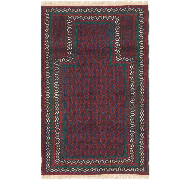 HandKnotted 2' 9 x 4' 9 Balouch Persian Rug
