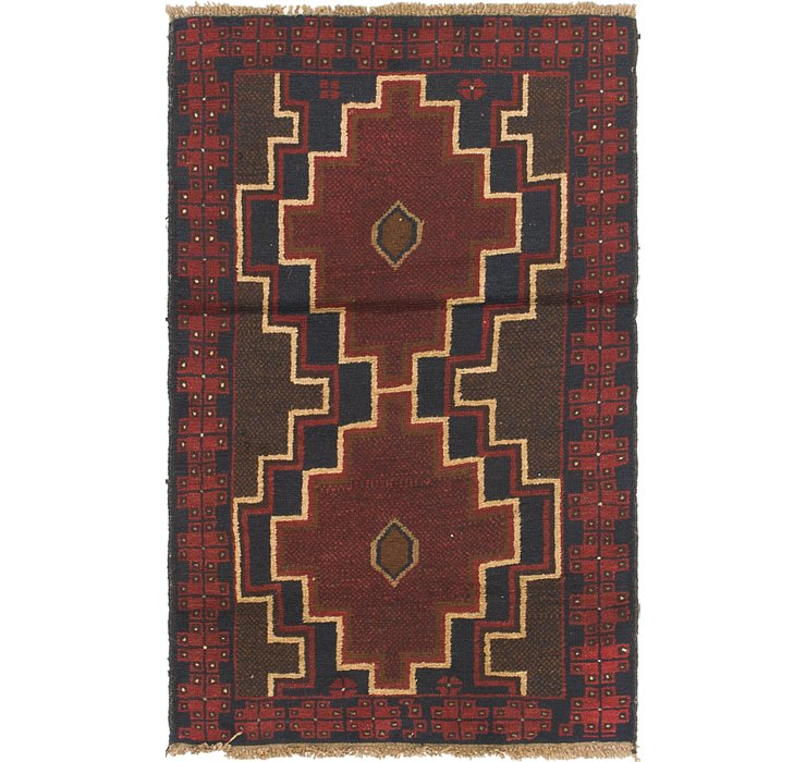 2' 9 x 4' 6 Balouch Persian Rug