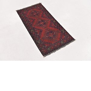HandKnotted 1' 9 x 3' 5 Khal Mohammadi Rug