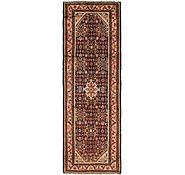 Link to 3' 7 x 10' 8 Hamedan Persian Runner Rug