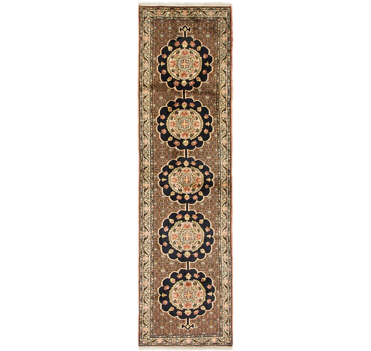 2' 5 x 9' 5 Ardabil Persian Runner ...