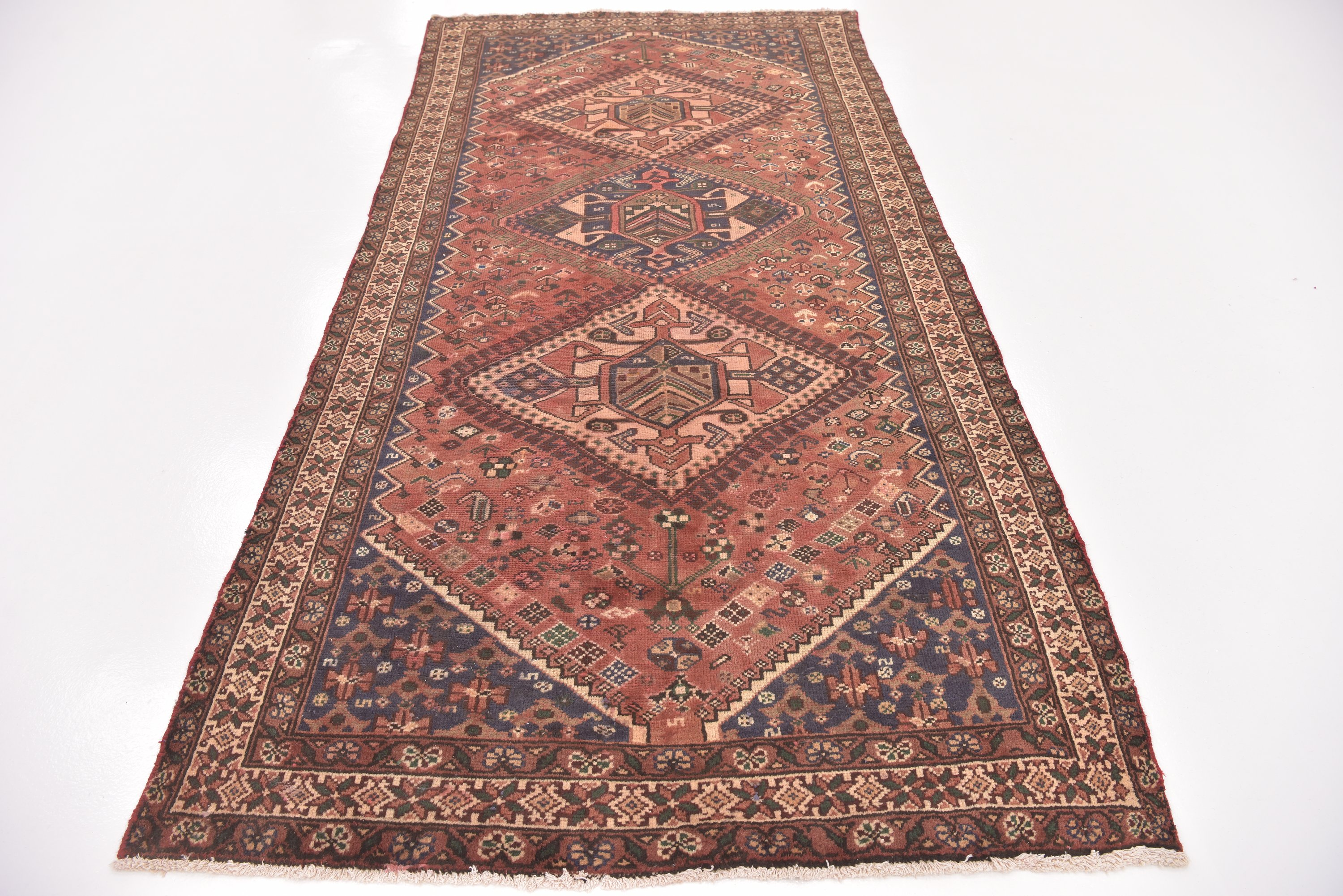 Rust Red Handknotted 5 X 9 10 Hamedan Persian Runner Rug Persian