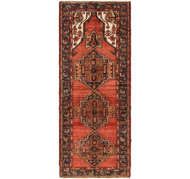 3' 6 x 8' 10 Hamedan Persian Runner ...