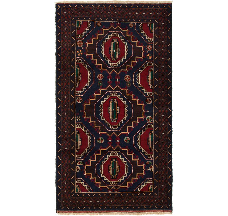 3' 7 x 6' 10 Balouch Persian Rug