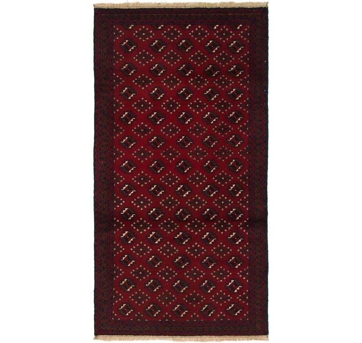 3' 4 x 6' 7 Balouch Persian Rug